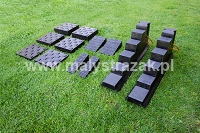 82. Set of step chocks, wedges and cribbing blocks MS III
